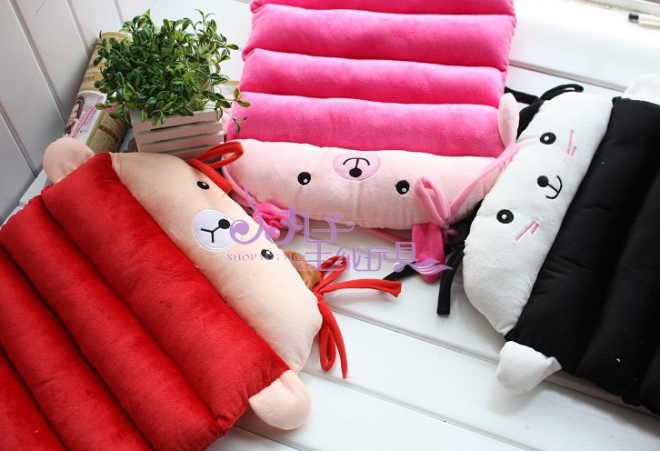 Free Shipping Kawaii Plush Cover 100% Cotton Stuffed Seat Cushion Car Cushion Chair Cushion Retail(China (Mainland))