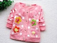 wholsesale 4pcs/lot cute Flower girl jacket Cotton cardigan coat
