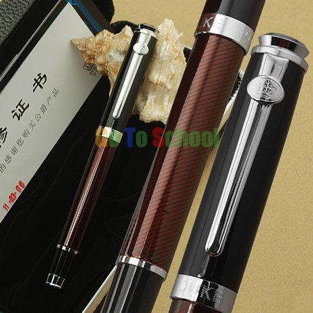 Duke Noble Black Red Swirls Carbon Fiber Ballpoint/Gift/Ball Point/Rollerball/Roller Ball Pen With Original Box Free Shipping(China (Mainland))