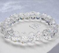 12MM Transparent Crystal Beads Stretch Bracelets Crystal Bangle YiwuWholesale High Quality Jewelry XZCB04-1