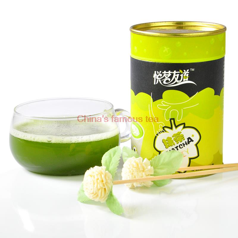Friends Road , Yue Ming / 100g canned green tea A + -11 012 ] whitening Matcha powder mask powder cake flour(China (Mainland))