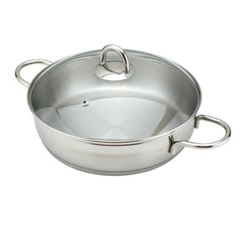 Kc7 24cm 304 stainless steel frying pan sauce pan without coating