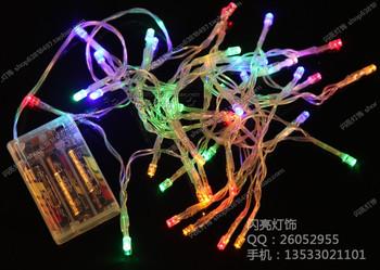Led lights flasher battery lighting string flicker garden lights mantianxing string light holiday decoration 10 meters
