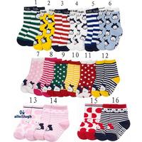 Allo lugh 100% & cotton children socks glue small kid's socks baby non-slip socks for 0-3years old