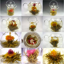 Pretty Gift Box 16 kinds Handmade  Green Artistic Tea Ball Flowers Blooming Flowering Flower Tea FREE Shipping