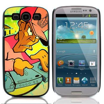 DJ Graffiti Aluminum Metal&Hard Plastic Back Case Cover For Samsung I9300 Galaxy S III,Free shipping(S3 VARIOUS 151)