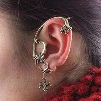 Min Order 12$ wholesale price, vintage alloy clip earrings, retro dragon ear cuff, fashion jewelry ES0036