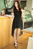 2013 summer new style sexy chiffon  leopard design /black color dresses/ skirts   asymmetrical hem