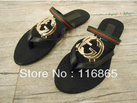 free shipping 2013 ladies sandals summer women Designer Slippers Sandals Flip Flat Slippers PU Flip FLops