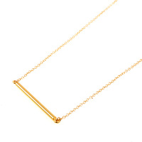12pcs/lot Free Shipping Gold and Silver Bar Pendant Necklace Handmade Wedding Accessories Tiny Bar Necklace for Women Wholesale