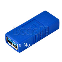 New Cable-Extension Blue USB 3.0 Standard A Female to A Female F/F Adapter Connector Plug Coupler Free Shipping 9656