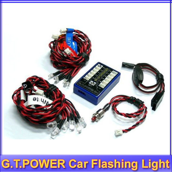 G.T.POWER Ultra Bright 12 LED Flashing Light System For R/c RC Car Remote Control Evader EXT2 Makita +free shipping(China (Mainland))