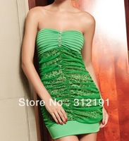 summer free shippping 2013 new arrive pink prom dress off the shoulder party dress play wear good quality drop shipping