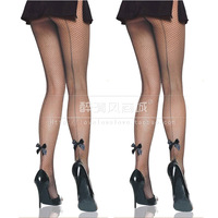 New arrival decoration bow pantyhose fishnet stockings women's sexy underwear pants taste of silk socks 8311