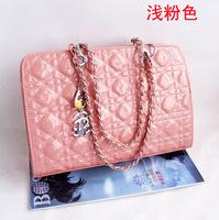 2013 New designer  bright japanned leather fashion chain bag  female's bag  women's bag designer handbag free shipping