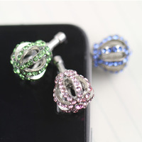 Rhinestone plug earphones 3.5mm earphones hole dust plug SAMSUNG  for apple