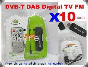 10SETSX New Cheap FM DAB USB DVB T RTL2832U R820T w MCX Antenna Hotsale