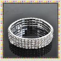 Free Shipping ! Elastic  Rhinestone Napkin Ring,Bracelate ,Rhinestone Buckle For Wedding Table Decoration