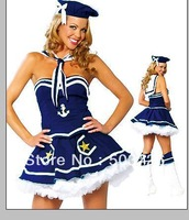 High Quality Costume  Costumes For Women Navy Costumes With Cap And Scarf