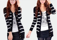Free shipping-2013 fashion women's Long sleeve knit cardigan sweater