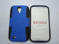 2 in 1 Dual Protector Hybrid Silicone Mesh Case Cover for Samsung Galaxy S4 i9500 S IV 4 cell phone cases 30pcs