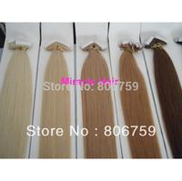 "18"" 20"" 22"" 24"" Indian remy tape hair/ PU Skin weft  #60 platinum blonde 100gram per set containing 50pcs or 40pcs"