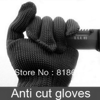 Anti-CUT Glove Cut Resistant Knitted anti cut gloves black guard against knife