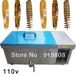 Free Shipping to USA/Canada/Japan 110v 12L Electric Spiral Potato Fryer(China (Mainland))