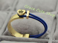 Free Shipping Fashion Bracelet Famous Brand Jewelry Printed Logo 5A Quality Gift Package( Dust Bag ,Gift Box) #J17-Navy