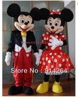 New Mickey and Minnie Mouse Mascot Costume Fancy Dress BIG SALE   /free shipping