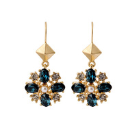 PDRE-SJ222,Big Brand Fashion Jewelry Wholesale,18k Gold Plated , Drop earrings, flower style ,Nickel free