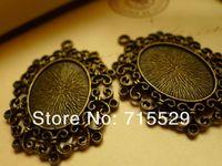 Free shipping  Inner size 20*27mm,antique Pendant base Setting/bronze pendant ,alloy base cameo setting by 50pcs/lot
