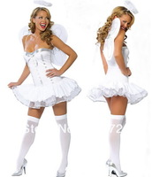 High Quality Fashion Costume  Cute Costumes For Girls   Sexy Costume With Headdress And Wing