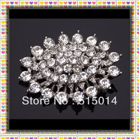 Free Shipping !  Rhinestone Brooch With Flatback for Invitation Cards ,Price Negotiable for Large Order