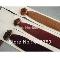 "18"" 20""22""24"" 1g/s Italian Keratin nail tip hair/ U tip remy hair extension #30 #33 #burg #99j color 100gram/pack"