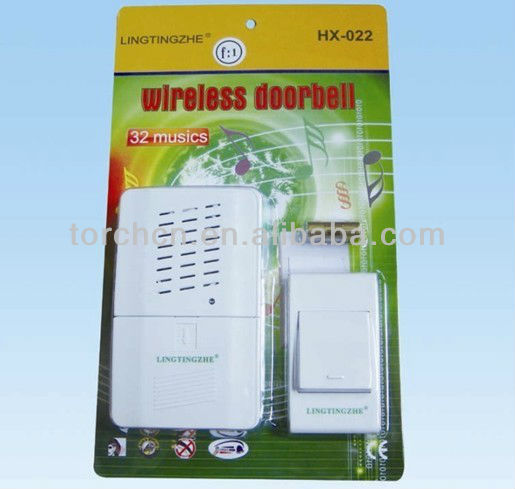 LINGTINGZHE HX-022 wireless doorbell, remote door bell, electric door chime for home, office(China (Mainland))