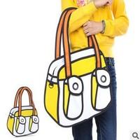5pcs/lots Women Taiwan secondary yuan cartoon 3D bags  handbags shoulder bag tote bags 1023