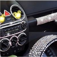 819 promotion ew Arrival DIY Crystal Sticker Rhinestone Car Decal Acrylic 6mm Car Accessories Decoration Strip