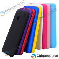 Free Shipping 10pcs/lot Mix Color Protective Hard Plastic Cell phone Back Case Cover for One M7 Chinabestmall