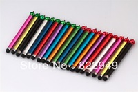 500pcs/lot capacitive stylus touch pen for Apple iphone 5 4S 4 3G 3GS ipad2 3 ipad HTC Samsung ipod All Touch Screen Free  DHL