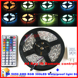 Free Shipping 5M 5050 RGB Dream Color 300 LED Change Colors Strip Light+44Key IR Controller Brand New+High Quality+High Value(China (Mainland))