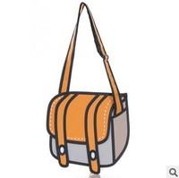 5pcs/lots Taiwan secondary yuan 3D cartoon handbags shoulder bag cross-body bags solid tote bags 3colors 1019