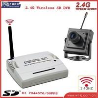 diy cctv kits 2.4G wireless CCTV DVR kit for house home guard   + 1pcs pinhole wireless camera