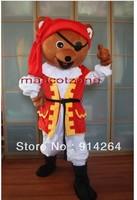 New Pirate Bear ADULT SIZE CARTOON MASCOT COSTUME   /free shipping