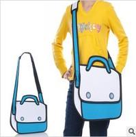 5pcs/lots Taiwan secondary yuan 3D shoulder bags cartoon handbags cross-body bags solid bag 1022