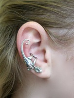 Hot-selling gekkonidae c113 earrings single ear cuff 8g