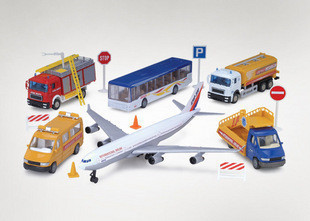 toy plane Alloy car model toy set series belt elevator(China (Mainland))