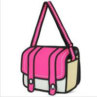 free shipping 2013 women's cartoon bag laptop camera shoulder handbag cool bags