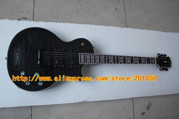 Free Shipping Hot Seller Prophecy series electric guitar lines transparent black clouds 24 active pickups Guitars