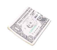Hot sale stainless steel wallet money clip purse